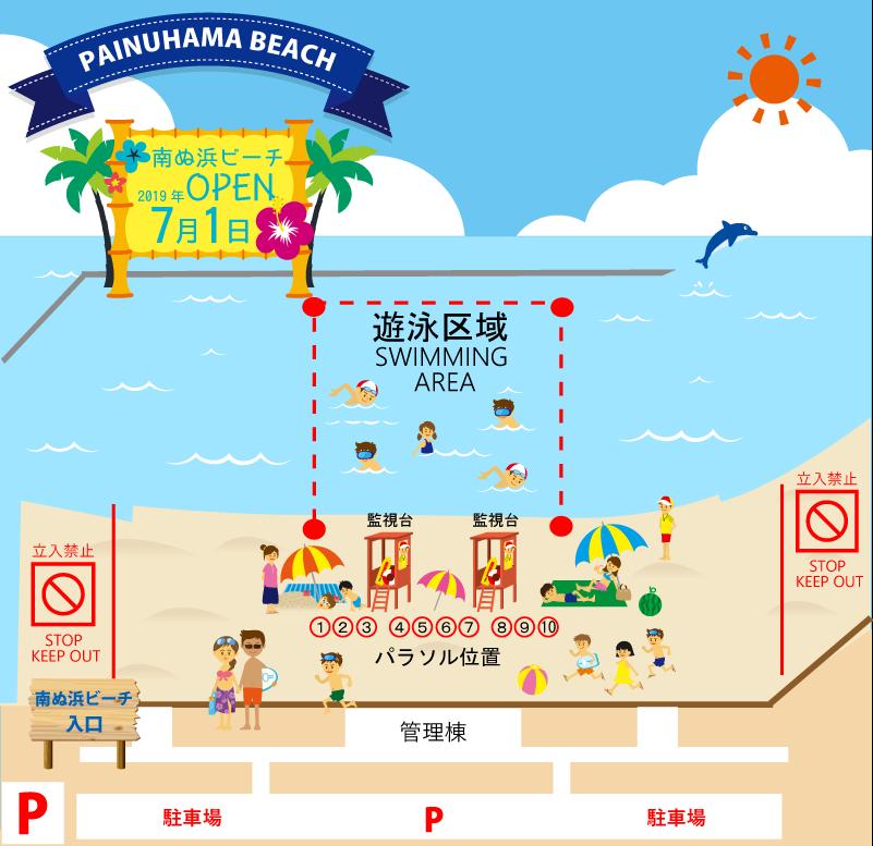 南ぬ浜ビーチ遊泳禁止区域